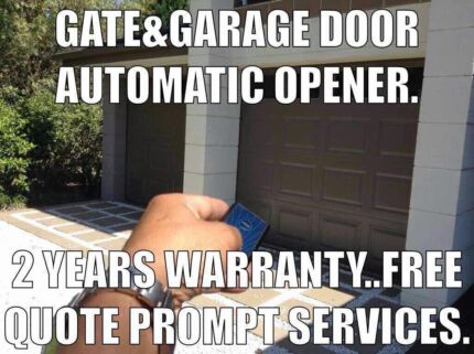 Automatic garage door&;gate,supply,repair,replace,install service