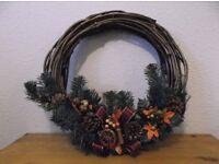 Christmas Xmas Door Wreath 40cm Approx Diameter