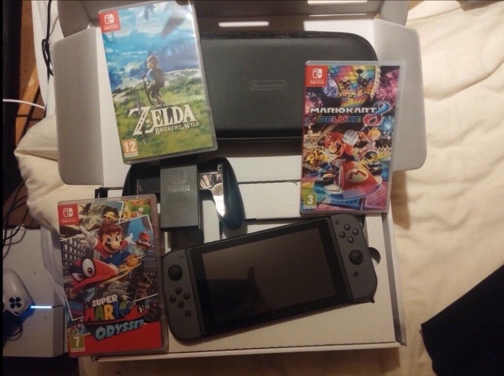 Nintendo Switch Bundle Boxed Mario Odyssey Zelda Botw Mario Kart 8 Case In Hassocks West Sussex Gumtree