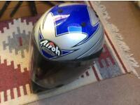 Trials style motorcycle crash helmet
