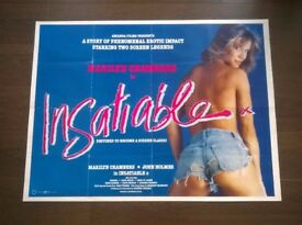 marilyn chambers ' insatiable ' original cinema poster
