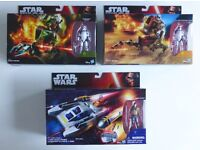 STAR WARS FIRST ORDER ATRT WALKER + STORMTROOPER X2 YWING SCOUT BOMBER + KANAN £18 EACH OR ALL 3 £50