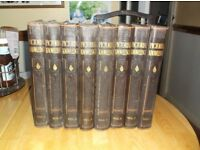 Newnes Pictorial Knowledge 1-8 volumes, reprinted in 1934 very good condition