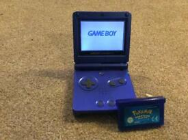 Gameboy Advance Sp with Pokemon Sapphire version