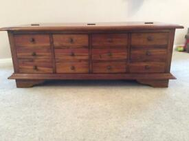Solid wood 12 drawer coffee table