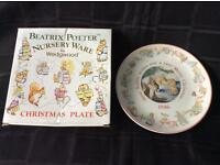 Collectible Wedgewood Beatrix Potter Christmas plate