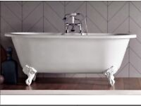 Bath-Brand new bath store Cambridge bath with resin feet immaculate condition New