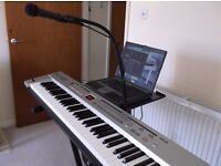 Roland A 37 controller V S T P C active speaker stands mains or battery ideal street busker