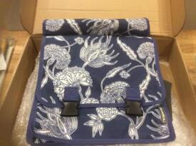 Bicycle Panniers , blue flower pattern, brand new, unused