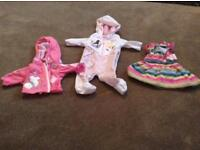 3 BABY BORN DOLL CLOTHES