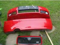 fabia vrs bumpers and front grill