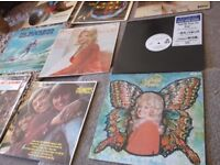 QUANTITY ALBUMS LPS VINYL WHATEVER YOU WANT TO CALL THEM,X 12 ,WITH ORIG COVERS, SOME RARE , OFFERS