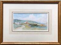 DAVID BATES (1840-1921) -NEAR CAPEL CURIG- COUNTRY LANDSCAPE, SIGNED WATERCOLOUR