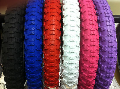 "1PC BICYCLE TIRE 16"" X 2.125 NEW==YOU PICK THE COLOR blue red pink purple white"