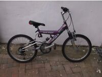 YOUNG PERSONS RALEIGH MAX DUEL SUSPENSION,( LITTLE USED )