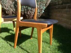 Midcentury retro dining chairs