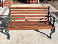 Lion head vintage garden bench cast iron ends