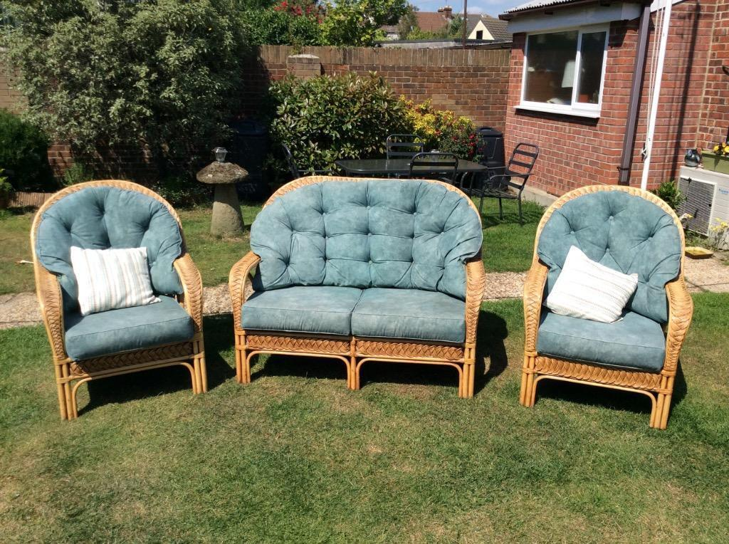 Cane Furniture Set Brilliant Condition In Portsmouth Hampshire Gumtree