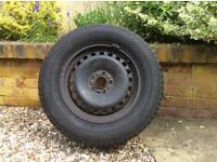 Winter tyres on rims