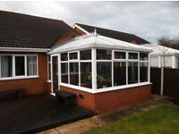 Conservatory with Designer Wooden Blinds