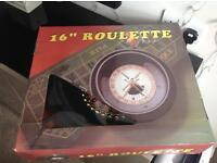 Complete roulette wheel game in box