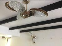 Ceiling light & pair of wall lamps