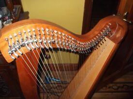 Handmade Irish harp
