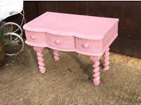 Pink girls childs dressing table