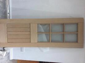 Unfinished oak mexicano double doors for sale