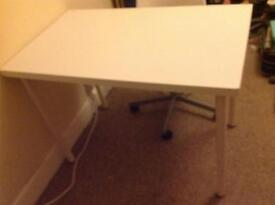 Ikea chair and desk, white