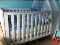 BABY ELEGANCE TRAVIS COT BED AND MATTRESS