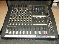 PA system 600 watts - complete with powered mixer and 2 X 350 watts speakers