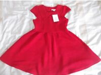 girls red dress age 9 - 10 never worn, tag attached, lovely thick material, ideal for christmas