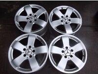 "2114014502 Genuine Mercedes 211 E-Class Rucha Alloy Wheels 7.5 x 16"" ET42 set"