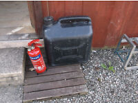 fire extinwasher and large fuel can for sale