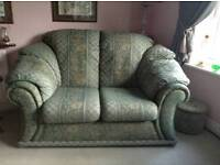 3 x 2 seater settees, footstool + extras - will separate