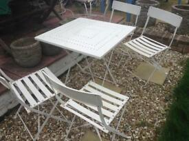 metal garden table 4 chairs
