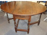 Antique Late 17th/Early 18th Century Gate Leg Oval Table