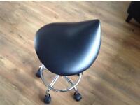 Manicure pedicure gas lift saddle stool