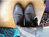 Retro brown ankle boots size 5