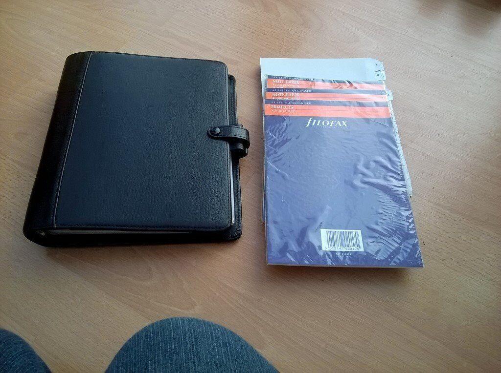 Black Leather Filofax