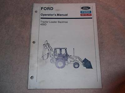 New Holland 455d Tractor Loader Backhoe Operators Manual