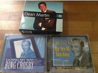 BING CROSBY 2 x CDS - DEAN MARTIN Box set - 3 CDs