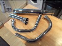 classic honda cb500T, complete two into one falcon endurance exhaust NOS