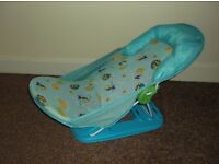 Blue Adjustable and Foldable Baby Bath Seat - £5