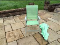 Four fold away garden chairs SOLD