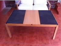 Stylish IKEA Oak & Slate Coffee Table