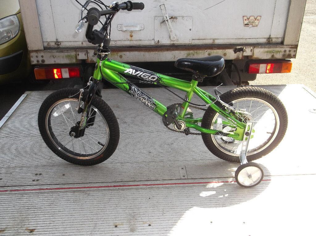 Boys Avigo Bike 16 Inch Wheels With Stabilisers Vgc In Brixworth
