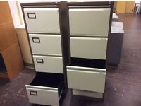 Four Drawer Two Tone Metal Filing Cabinet