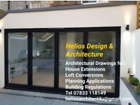 ARCHITECTURAL DRAWINGS in 3 days, PLANNING APPLICATION, BUILDING CONTROL